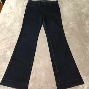 Dark trouser jeans long inseam
